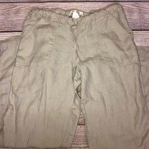 Max Studio 100% Linen Drawstring Pants